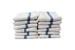 Partex Bleach Guard™ White Towels w/ Blue Stripe