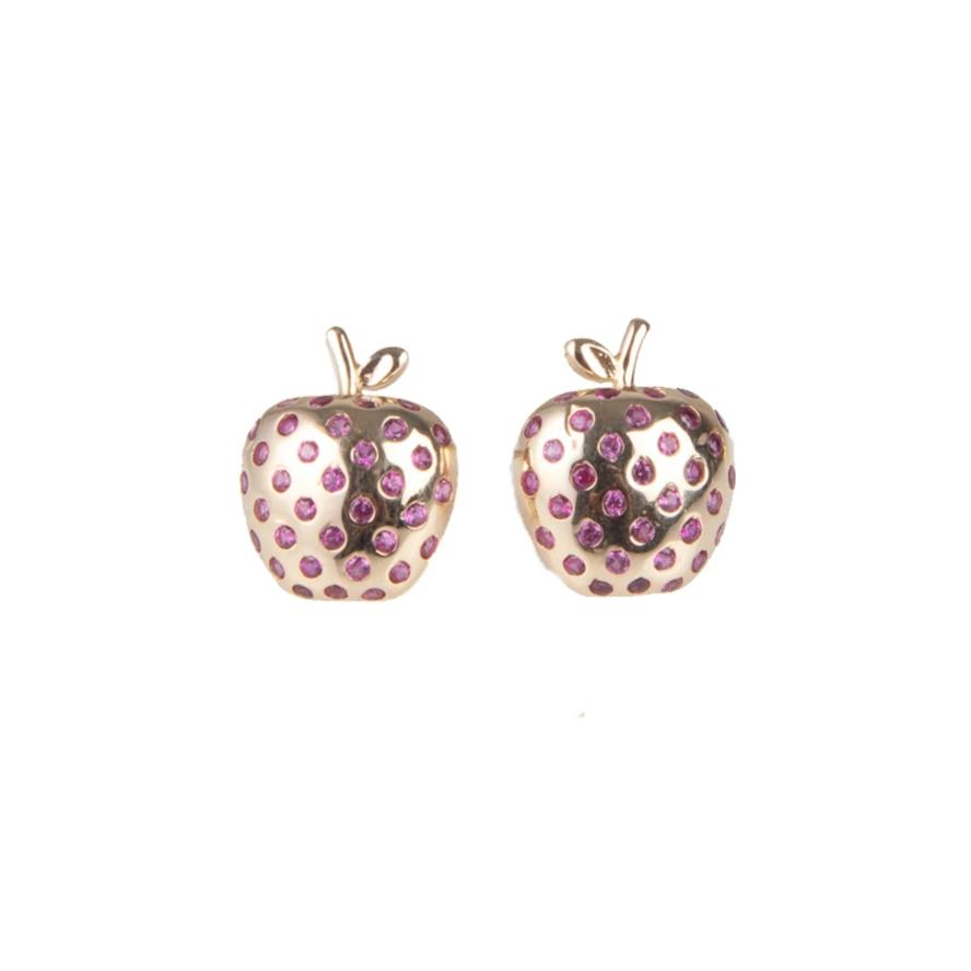 Apple Earrings Red