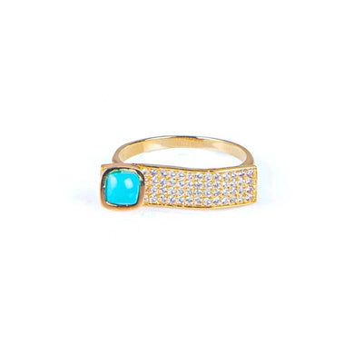 Wave Turquoise Ring