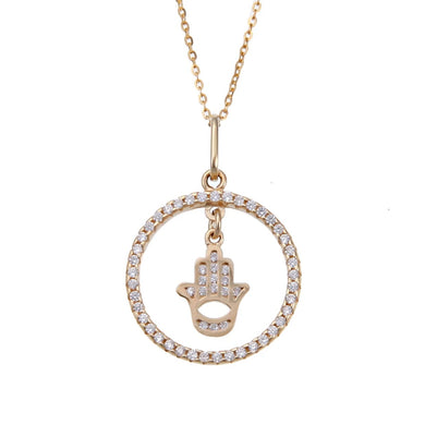 Hamsa Protection Necklace