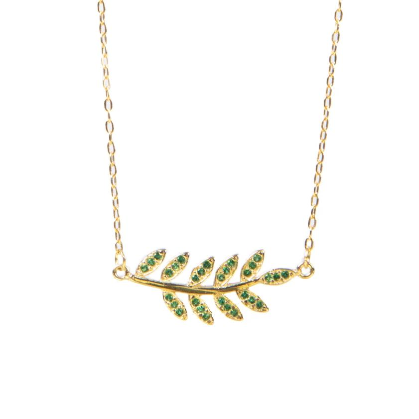 Olive Branch Necklace (Green)