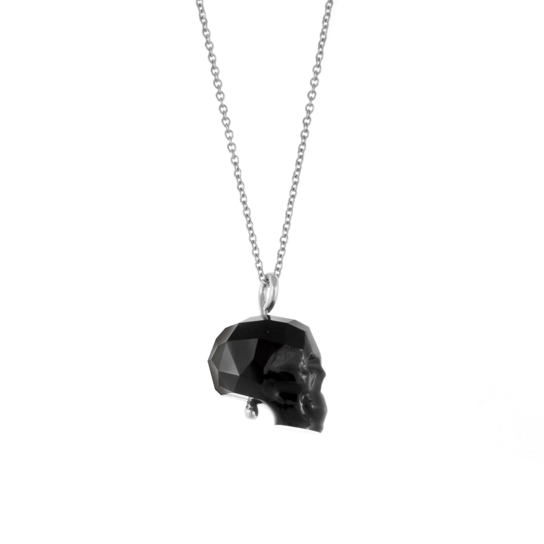 Swarovski Skull Necklace (Black)