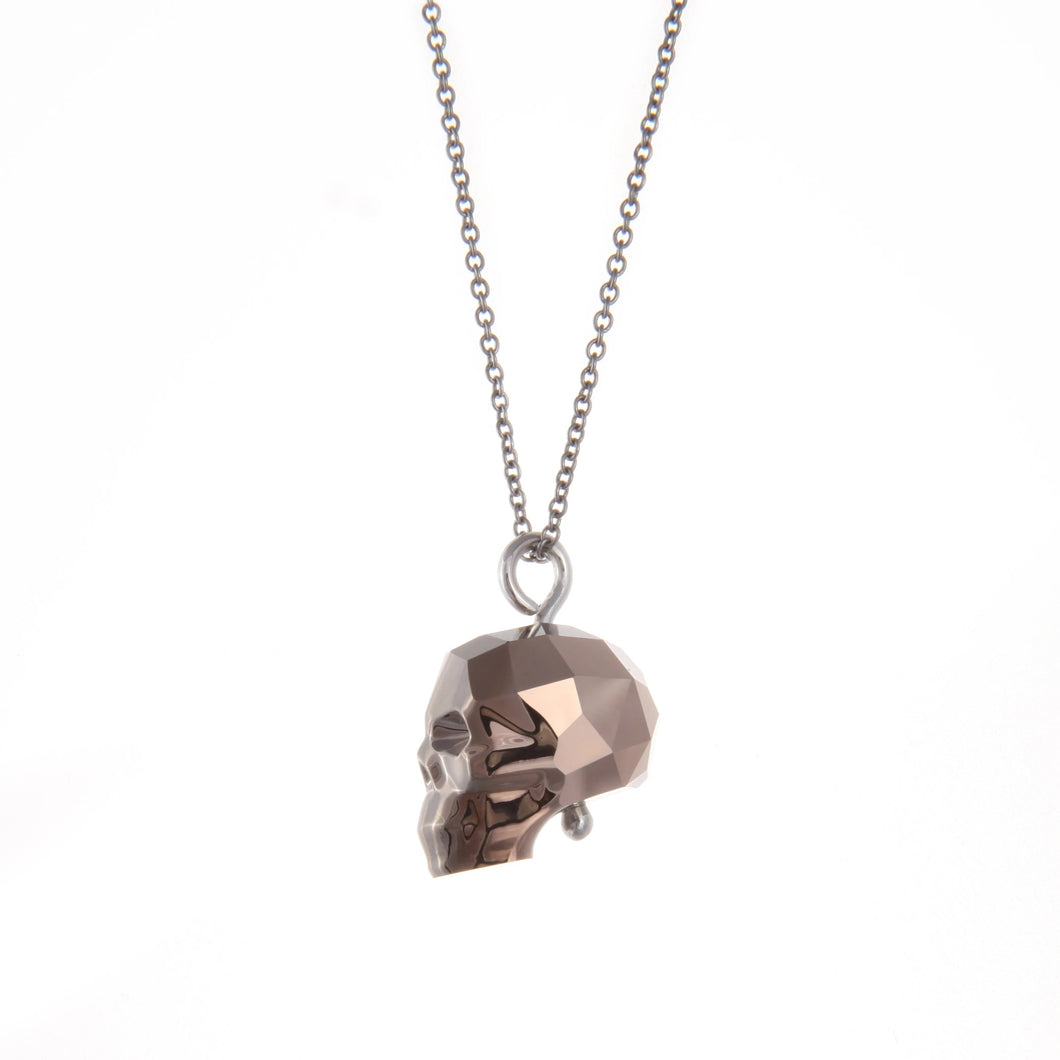 Swarovski Skull Necklace (Gold)