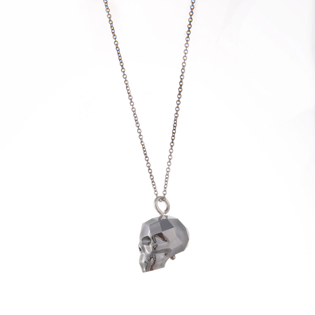 Swarovski Skull Necklace (Silver)