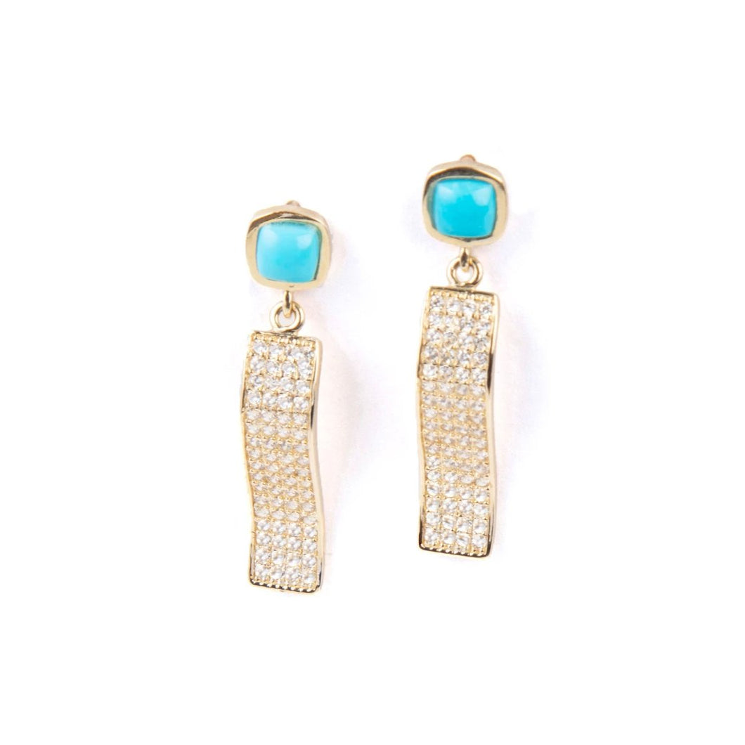 Wave Turquoise Earrings