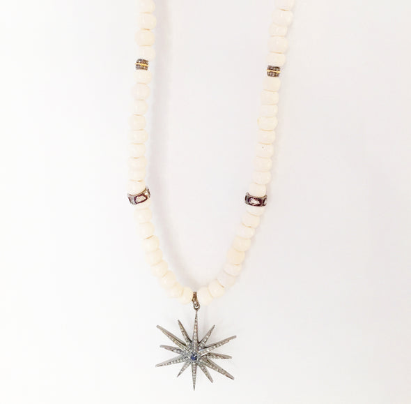 Spike Star Necklace with Diamonds