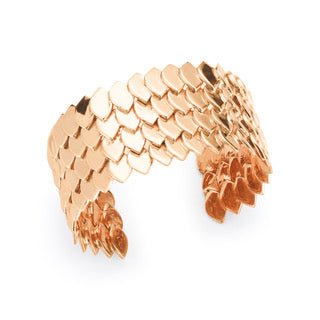 Silver Rose Gold Plated Fish Skin Cuff