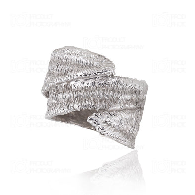 Silver Eagle Textured Ring