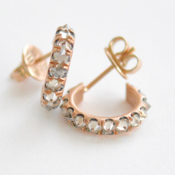 18k Rose Gold Hoops