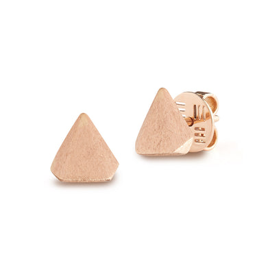 18k Rose Gold Thorn Earrings