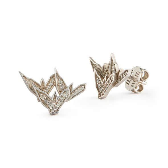 Silver Studs with 3 Small Eagles
