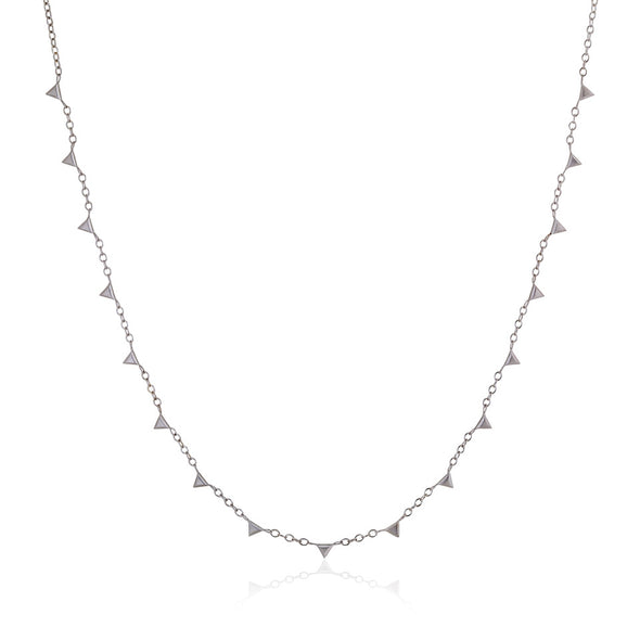 Silver Chain with Triangles