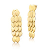 Silver Yellow Gold Plated Long Fish Skin Earrings