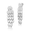Silver Plated Long Fish Skin Earrings