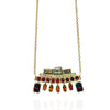 18K Yellow Gold Necklace with Spessartite, Citrine, White and Light Brown Diamonds