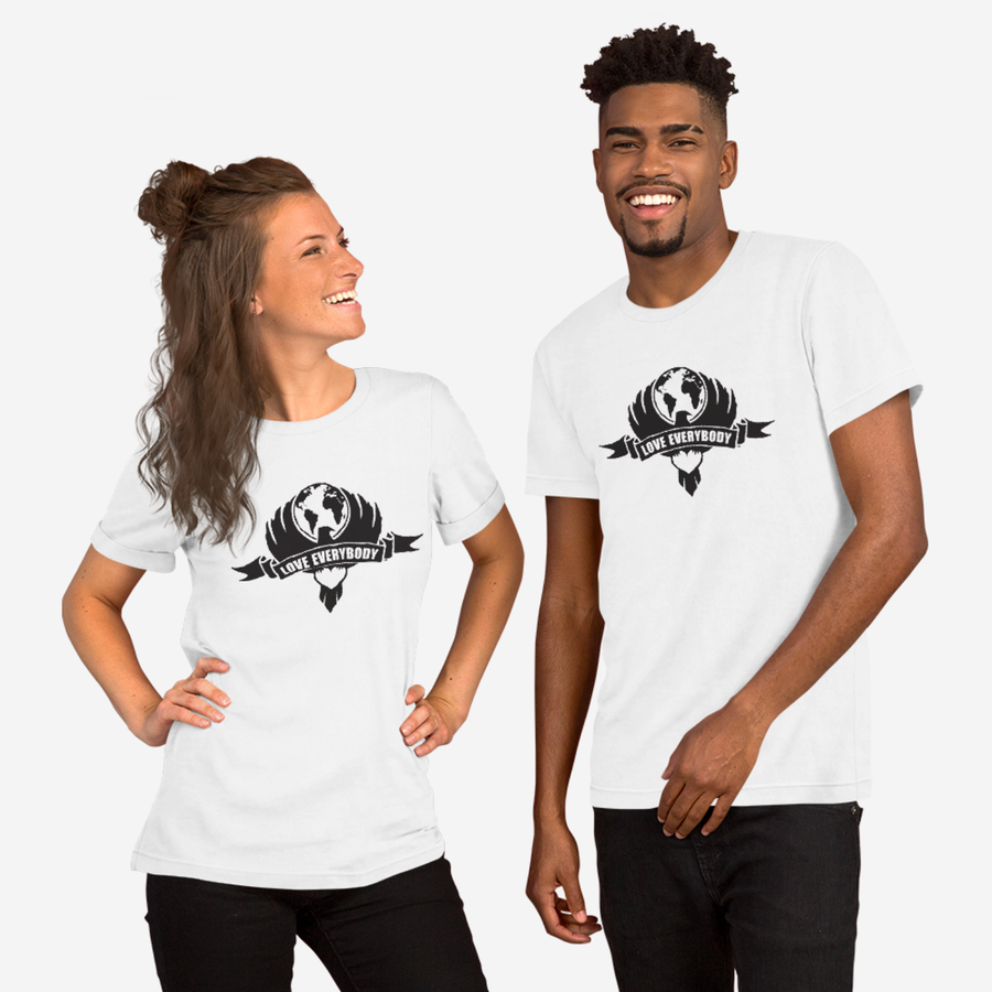 Love Everybody Emblem Unisex White T-Shirt