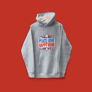 PEACE LOVE & HAPPY HOUR Freedom Unisex Hoodie