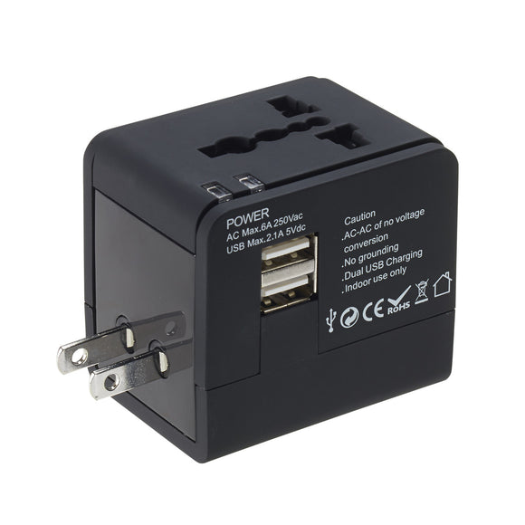 IN STORE ONLY: Lewis & Clark Global Adapter w/ USB Charger