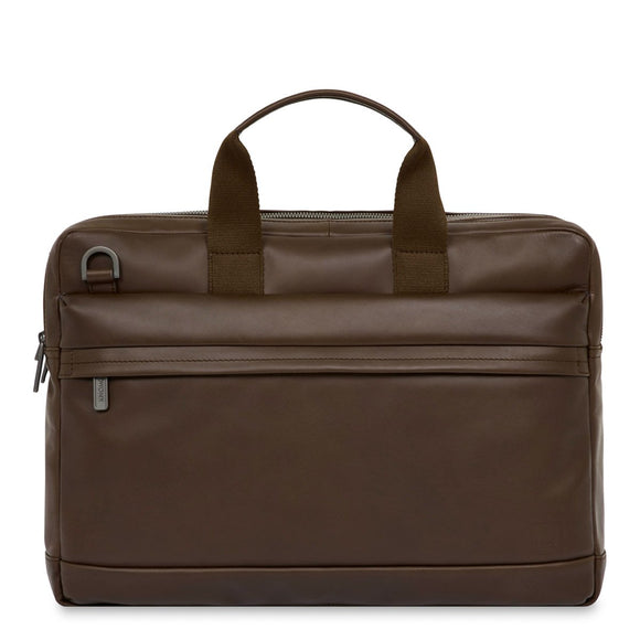 KNOMO: Roscoe Leather Laptop Briefcase 15