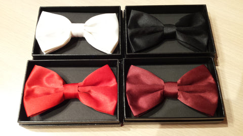 Solid, Solid colors, Solid around your neck, bow ties!