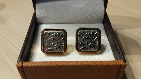 2018 Exclusive Fleur de Lis, Embossed Cuff Links