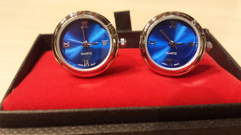 Watch Cufflinks, Full Quartz, NOK Exclusive!