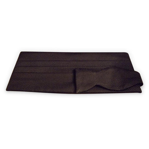 Essential cummerbund & bow tie set: black