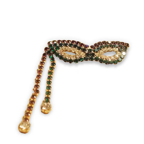 Mardi Gras mask ladies pin 1