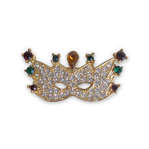 Mardi Gras mask ladies pin 2