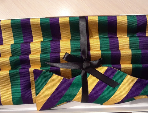 Another Fine Italain Mardi Gras Cummerbund Set, 100% Traditional Mardi Gras!