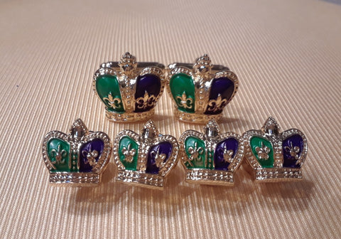 A Crowning, or Jester, Formal Wear Set & Cuff Link, NOK Exclusive! 2 Photos.
