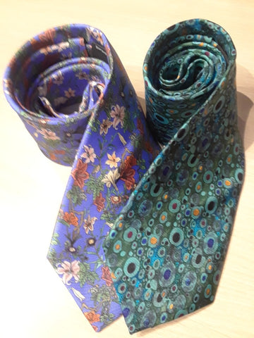 N O Knots Exclusive, the Finest Silk - Lovely Flowers & Beautiful Color, Hand Made in Europe!