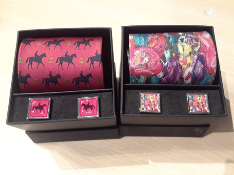 N O Knots Exclusive, the Finest Silk Art Tie & Cufflinks, Hand Made in Europe!