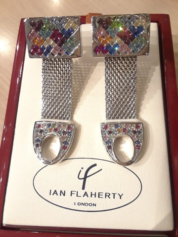 Throwback From London & Swarovski Crystal, Mesh Cufflinks!