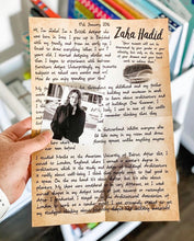 Load image into Gallery viewer, Zaha Hadid Letter