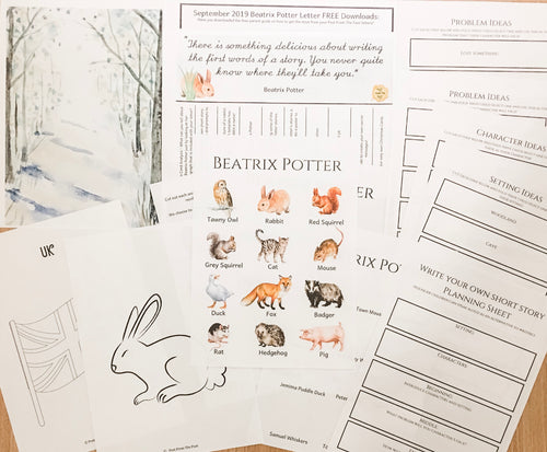 FREE Beatrix Potter Subscriber Downloads