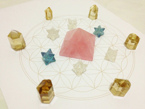 photo relating to Printable Crystal Grid known as Flower of Existence Crystal Grid Template Delight in For Crystals, LLP