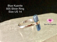 Blue Kyanite In 925 Silver Ring (Us 14)