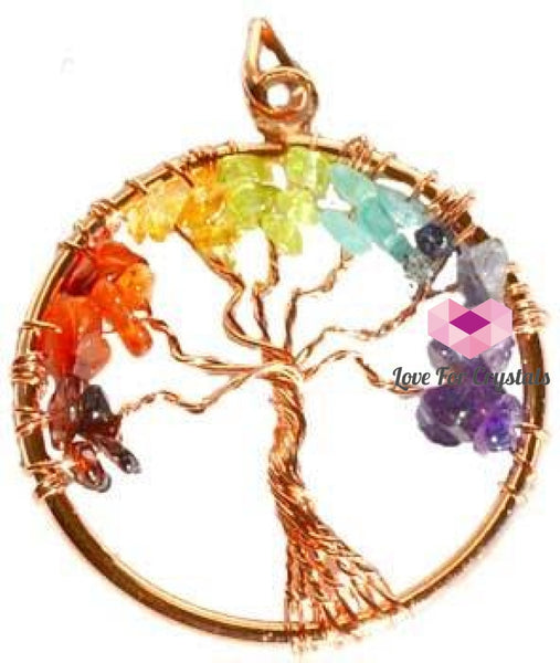 Chakra Tree Of Life Copper Pendant Pendants & Necklaces