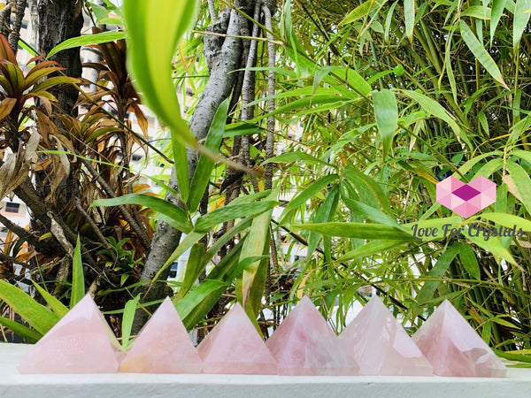 Rose Quartz Pyramid (Brazil)