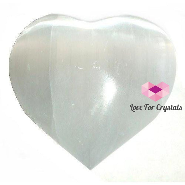 Selenite Heart White(Morocco) Shaped Crystals