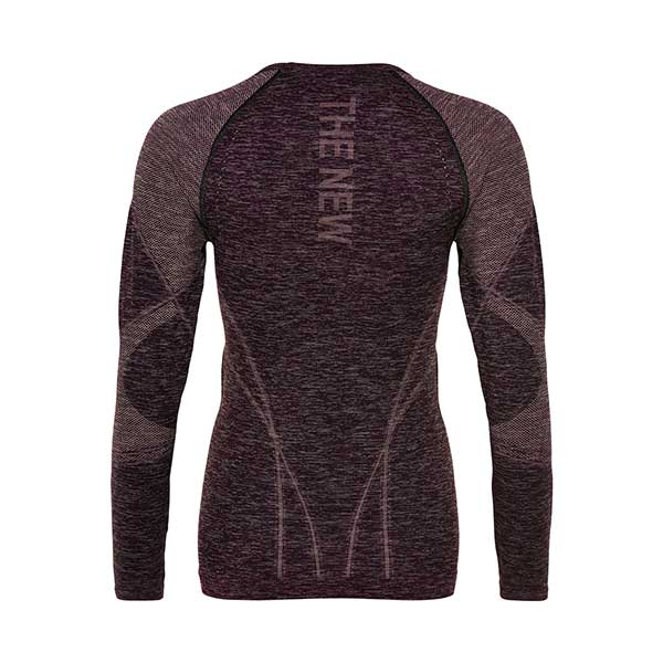 PURE Bodydry longsleeve tee grape wine w-THE NEW PURE-THE NEW PURE
