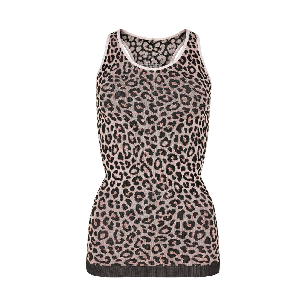 PURE Cheetah tank top w-THE NEW PURE-THE NEW PURE