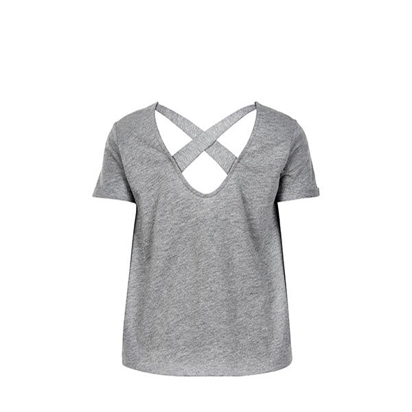THE NEW PURE - PURE LOOSE S_S TEE - LIGHT GREY MELANGE - THE NEW PURE