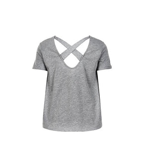 PURE Loose short sleeve t-shirt w - LIGHT GREY MELANGE-THE NEW PURE-THE NEW PURE