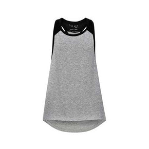 PURE Loose tank top w - LIGHT GREY MELANGE-THE NEW PURE-THE NEW PURE