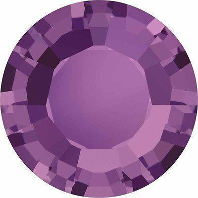 1128 Swarovski® Chatons & Round Stones Table / Double Sided-Swarovski Chatons & Round Stones-Amethyst-SS29 (6.2mm) - Pack of 25-Bluestreak Crystals