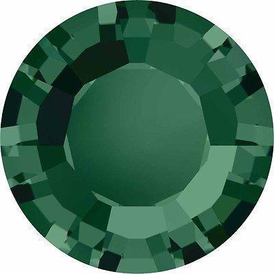 1128 Swarovski® Chatons & Round Stones Table / Double Sided-Swarovski Chatons & Round Stones-Emerald-SS29 (6.2mm) - Pack of 25-Bluestreak Crystals