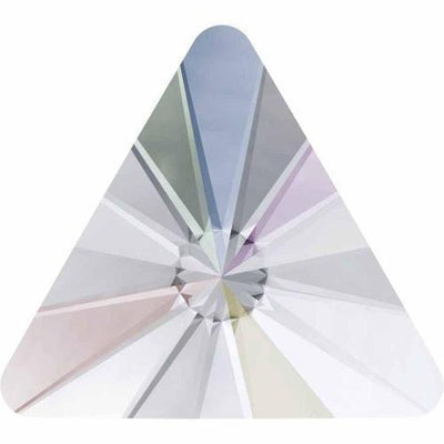 2716 Swarovski® Hotfix Crystals Flatback Rivoli Triangle-Swarovski Flatback Crystal Shapes Hotfix-Crystal AB-5mm - Pack of 10-Bluestreak Crystals