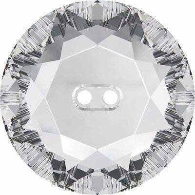 3014 Swarovski® Buttons Round-Swarovski Crystal Buttons-Crystal-12mm - Pack of 2-Bluestreak Crystals